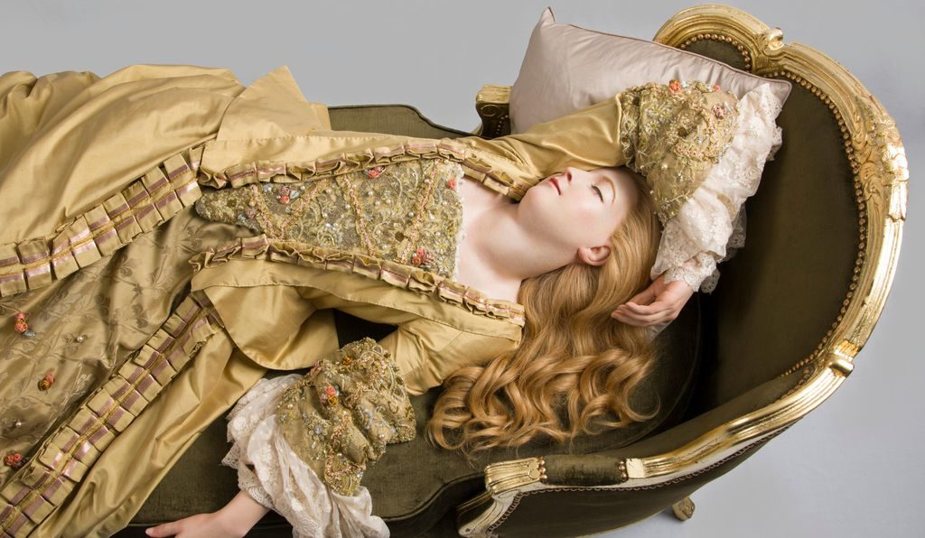 """This wax figure of """"Sleeping Beauty"""" (actually said to be a mistress of Louis XV) was recast from an original mold made by Marie Tussaud herself, and can now be seen at Tussauds London."""