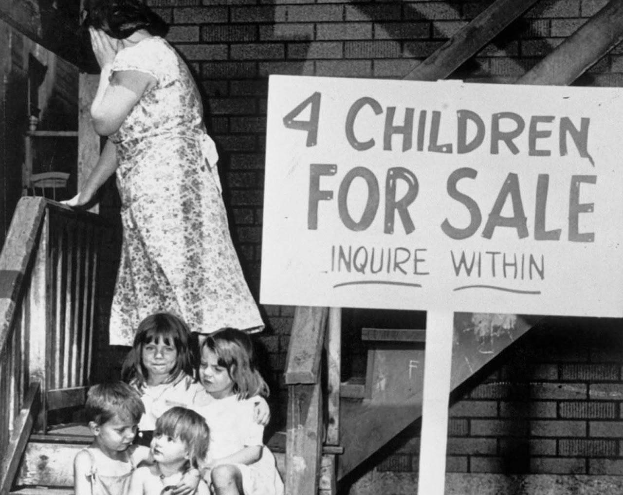 sad sale of childrens clothing